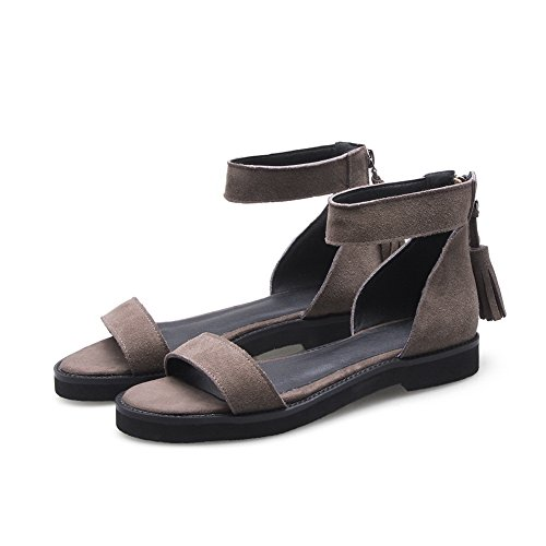 1TO9 Womens Soft-Ground Bucket-Style Cold Lining Urethane Sandals MJS03135 Coffee kGA6k