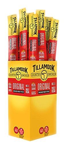 (Tillamook Country Smoker Beef Jerky Original Stick 24-1oz Individually Wrapped Sticks. 1.5LBS Total Bulk)