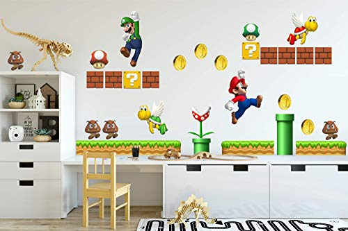 New Super Mario Brothers Wall - Wall Sticker Fathead