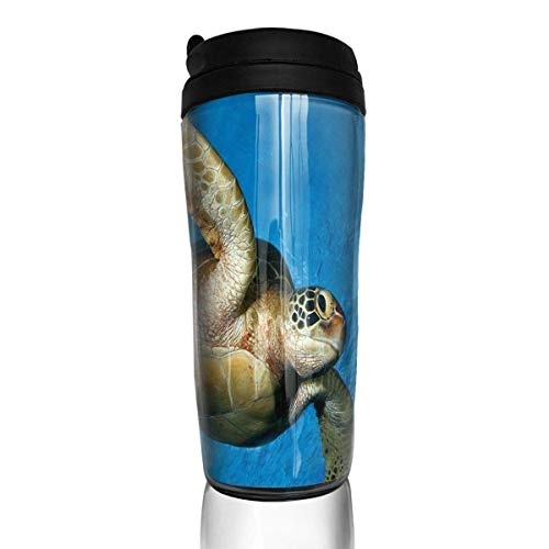 Custom Reusable Coffee Cup Turtle Under The Sea Tumbler Vacuum-Insulated Travel Mug Hot Or Cold,12 Oz.with Lids -