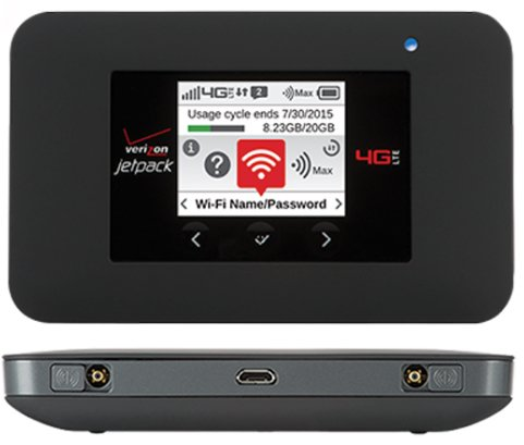 Verizon Jetpack 4G LTE Mobile Hotspot - AC791L With Accessory Port (Certified Refurbished) Includes JPO Car Bullet charger head by Verizon
