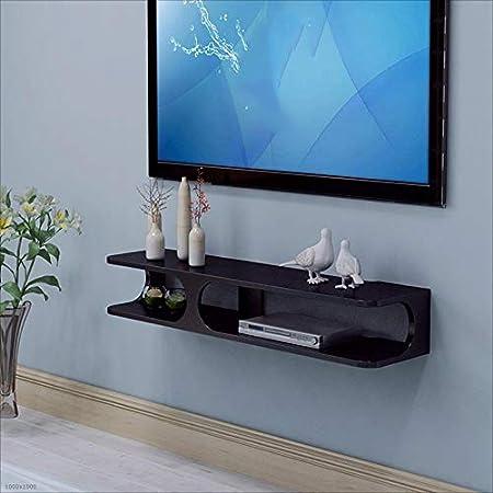 Pengjun Set-Top Box montado en la Pared de Almacenamiento Rack TV Armario de Pared Colgante de Pared decoración de la Pared Blanco/Negro Estanterías (Color : Negro): Amazon.es: Hogar