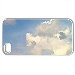 Hole In A Cloud - Case Cover for iPhone 4 and 4s (Sky Series, Watercolor style, White)