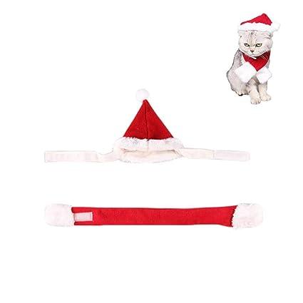 40b238c99 Disfraces de Navidad para mascotas, conjunto de gorro y bufanda Conjunto de  ropa de fiesta