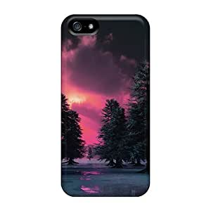 Hot Design Premium PC For Ipod Touch 4 Phone Case Cover Protection Case(ice Plain Forest)