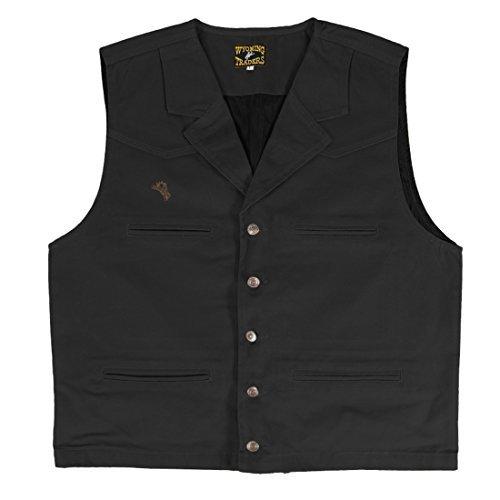 Wyoming Traders Bronco Canvas Vest (XL, Black)