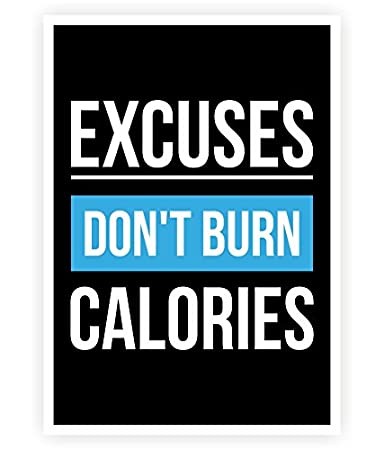 Amazon.com: Excusas Don Burn Calorías Gimnasio Inspirational ...