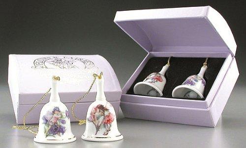 Reutter Porcelain of Germany Flower Fairies Mini Bells Set of 2