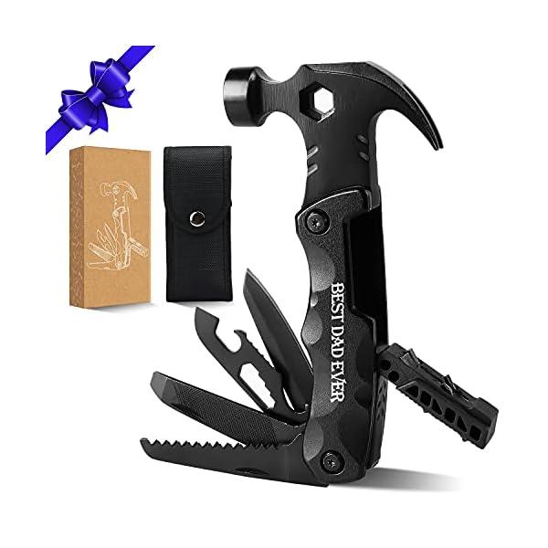 412BTkQBuGS Seven Sparta Camping Multitool Zubehör, 13 in 1 Multi Tools Hammer Cool Gadgets für Papa, Geschenke Strumpffüller Alles…