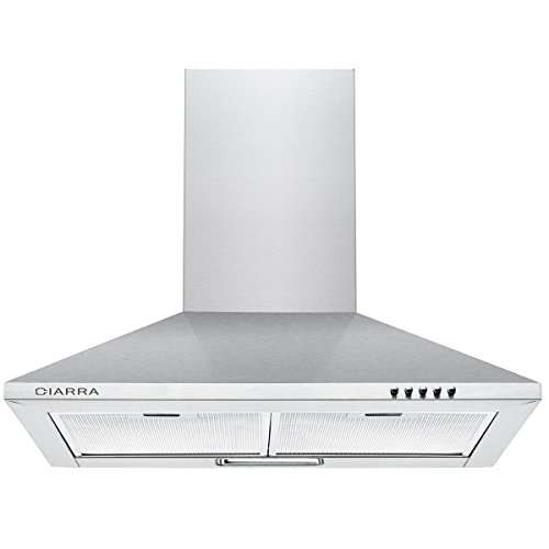 Ciarra 60cm Stainless Steel Chimney Cooker Hood 600mm Range Hood Kitchen Extractor Fan