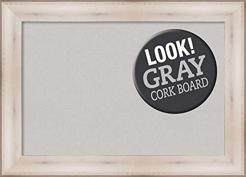 Amanti Art Grey Cork Allure White Framed Bulletin Boards, Size - Allure Framed