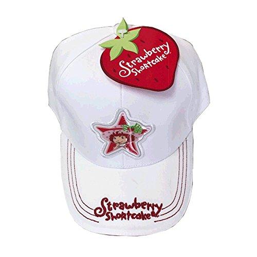 STRAWBERRY SHORTCAKE CAP (WHITE) (Strawberry Shortcake Applique)