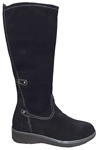 Wedge Shearling Black Suede Lined Boots Wool 25 Winter Tamaris 26625 wfqH0nxfa