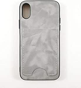 Back Cover for iPhone X/XS with slot for cards and comes with holder for phone