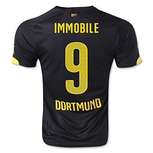 2014-15 Borussia Dortmund Away Shirt (Immobile 9) B077VKD95HBlack XL Adults