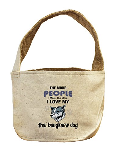 Style in Print Canvas/Burlap Basket More People Meet Love Thai Bangkaew Dog by Style in Print