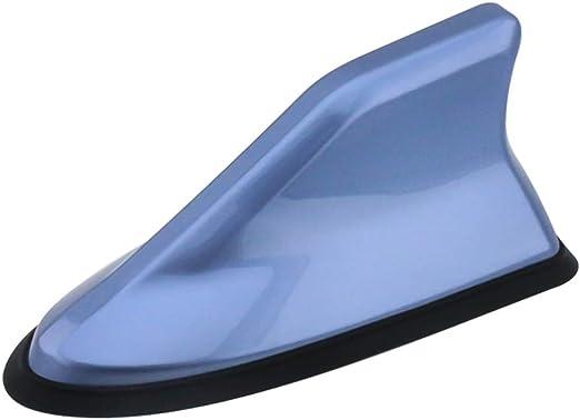 Psler Universal Coche Antena Impermeable de Señal de Radio de Aleta Tiburón Cubierta (Azul Islandia)