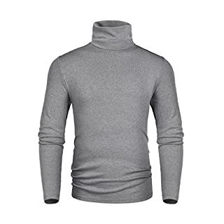 Men's Gray Turtleneck