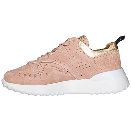 Baskets Sneakers Chaussures Rose Daim Femme Tod's en O5qZfw1