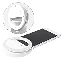 XCSOURCE White Universal 36 LED Selfie Enhancing Dimmable Cellphone Camera Ring Flash Fill-in Light 3 Brightness Levels For Smartphones iPhone Samsung Galaxy DC694