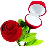 Lilone Pack Of 2 Red Plastic Rose Ring Box