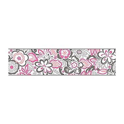 York Wallcoverings GK8926BD Growing Up Kids Islamorada Removable Wallpaper, White/Grey/Black/Pinks