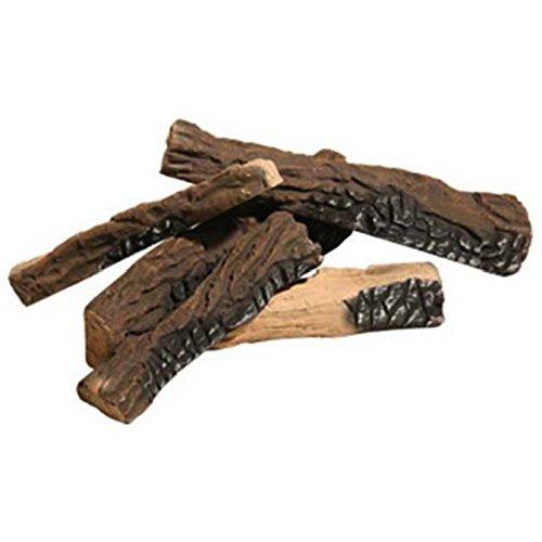 Regal Flame Set of 5 Ceramic Fiber Propane Gel Ethanol or Gas Fireplace Logs (Gas Fireplace Insert Vent Free)