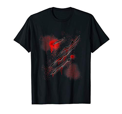 (Zombie Ripped Shirt Blood Red Zombie Shirt Zombie Wounds)