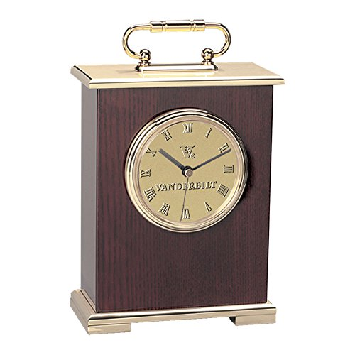 CSI International NCAA Vanderbilt Commodores Adult Le Grande Carriage Clock, One Size, (Commodore Clock)