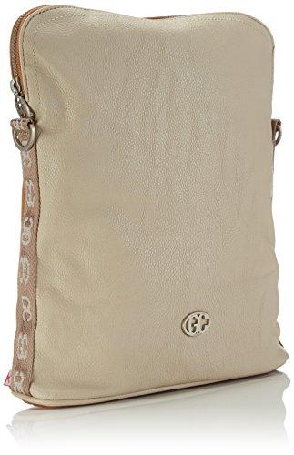 cognac Plastic Bag crossover Sand Multicolored Woman bicolor Shoulder German Poodlebag Couture Mehrfarbig qwZ4v4