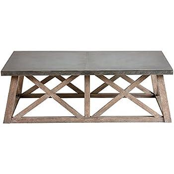 Amazon Com Ethan Allen Bruckner Metal Top Coffee Table