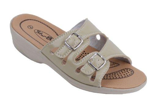 Starbay New Women Comfort Slide Wedge Sanals Beige Size 8