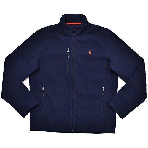 Polo Ralph Lauren Mens Performance Micro Fleece Full Zip Jacket (XS, French (Blue Micro Performance Fleece)