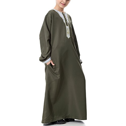Zhuhaitf-Children-Boy-Thobe-Robe-Muslims-Arabic-Abaya-Dress-Arab-Dishdasha