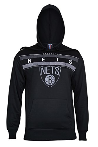 fan products of NBA Men's Brooklyn Nets Fleece Hoodie Pullover Sweatshirt Poly Midtown, Large, Black