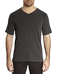 by Thaddeus Dex V-Neck Raglan Short Sleeve Solid Color T-Shirt (See More Colors and Sizes)