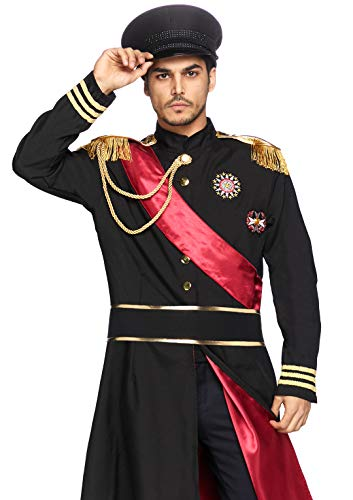 Leg Avenue Men's 2 Piece Military General, black, Medium/Large (Nazi Soldier Uniform)