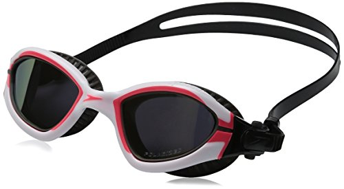 Speedo MDR 2.4 Polarized Goggles, White/Diva Pink, One Size