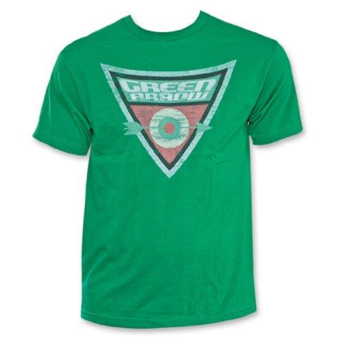 The Green Arrow Shield Bullseye Green Adult T-shirt Tee (Adult XXX-Large)