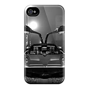Hot Design Premium ALHRebX7977hxoWT Tpu Case Cover Iphone 4/4s Protection Case(pagani Huayra)