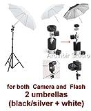 Photo Studio Portable Hot Shoe Speed Light Flash Umbrella Stand Kit for Canon, Nikon, Panasonic, Leica, Pentac, Olympus DSLR camera