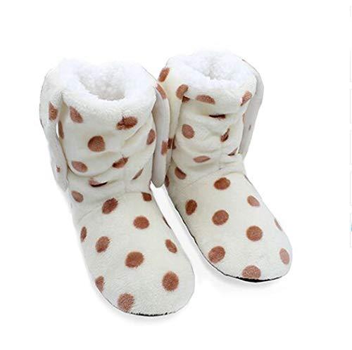 Beige Sol Tongs Polaires Chaussons De Intérieur Accueil Femmes Chaud Coton Printemps Peluche Enfants En Chaussures Bow noeud aA6wxwBvq