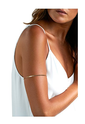 Boosic Boho Jewelry Gold Tone Arm Band Coin Armlet Bracelet For Women (Arm Band Jewelry)