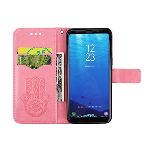 COWX Samsung Galaxy S8 Hülle Kunstleder Tasche Flip im Bookstyle Klapphülle mit Weiche Silikon eule Handyhalter PU Lederhülle für Samsung Galaxy S8 Tasche Brieftasche Schutzhülle für Samsung Galaxy S8