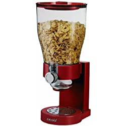 Zevro Single Cereal Dry Food Dispenser C0197ZV / Red / Large capacity / Storage container / Breakfast