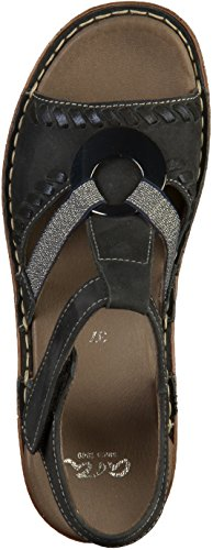 37255 Women Blue ara 12 Sandals West Key qfw8FZ