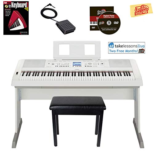 Yamaha DGX-660 Digital Piano - White Bundle with Furniture for sale  Delivered anywhere in USA