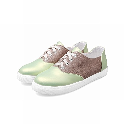 Latasa Womens Lace-up Flat Oxford Shoes Light Green aIvqye