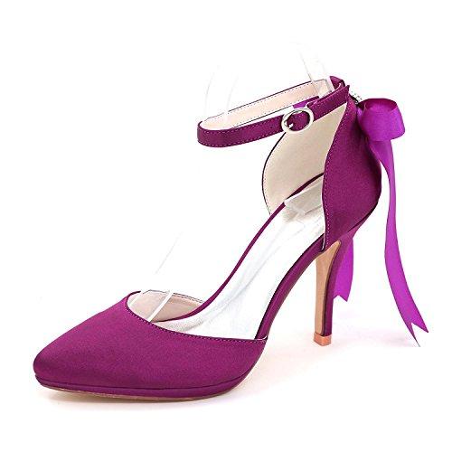 L@YC Frauen Hochzeitsschuhe Satin / High Heels / Frühling Sommer Herbst Spitze Hochzeit & 0255-28 Abend Purple