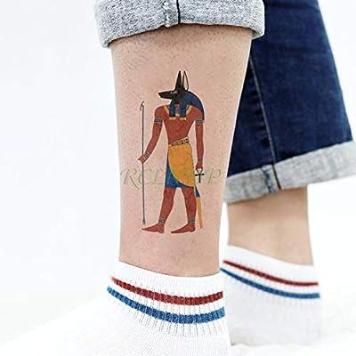 ljmljm 5 PC Impermeable Etiqueta engomada del Tatuaje Egipto ...